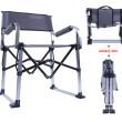 Skládací židle NC-117 hliníková šedá